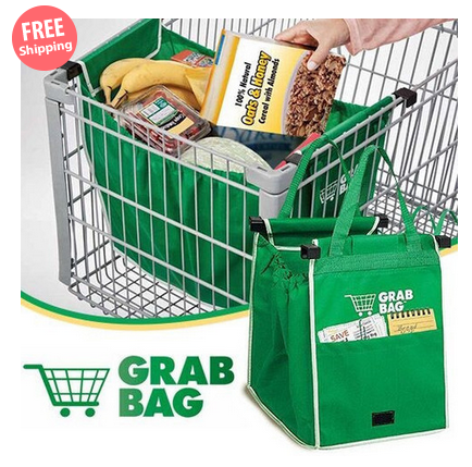 $18 for a Set of Two Clip-to-Cart Shopping Bags $18.00 down from $49.00