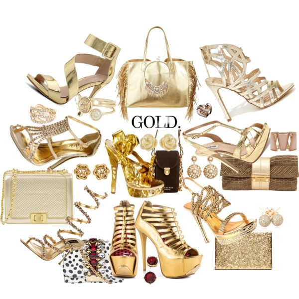 Gold Sandals for Fall