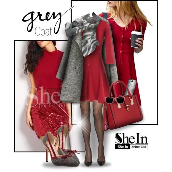 Grey Coat –Shein