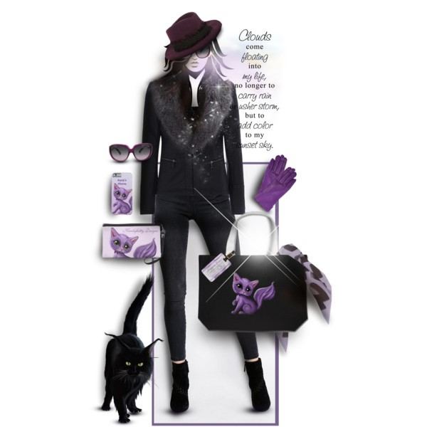 Wear Black – Accessorize with Purple