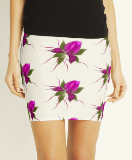 pink bloom skirt