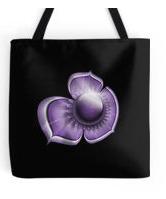 purple floral tote
