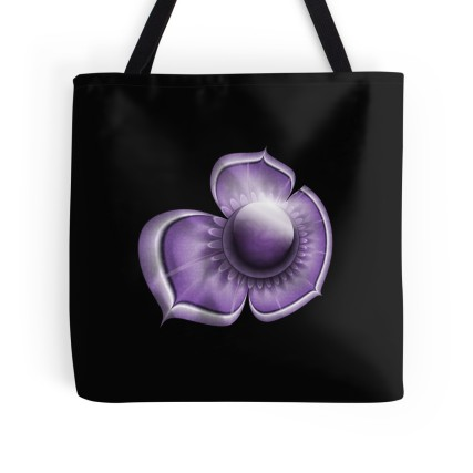 purple tote large