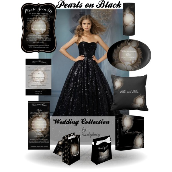 Pearls on Black Wedding