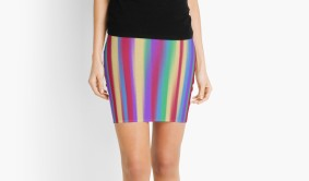 colorful stripes skirt front