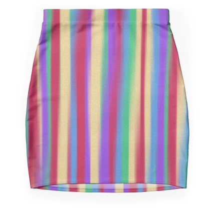 colorful stripes skirt isolated