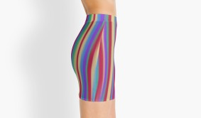 colorful stripes skirt side