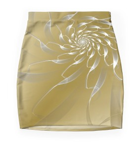 gold lace skirt only
