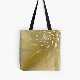 gold lace tote